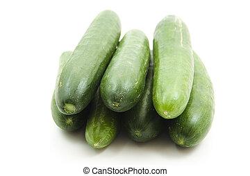 Fresh salad cucumbers