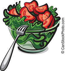 fresh salad - fresh vegetables salad