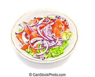 fresh salad in the plate
