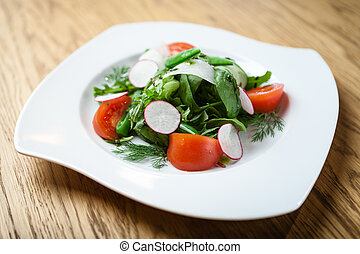 fresh salad on a plate