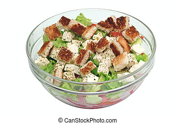 fresh salad on bowl