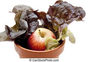 Fresh salad with apple