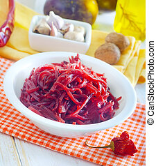 fresh salad with beet