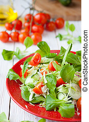 fresh salad with cabbage and tomatoes