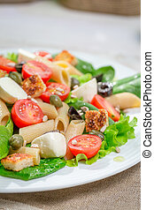 Fresh salad with healthy vegetables