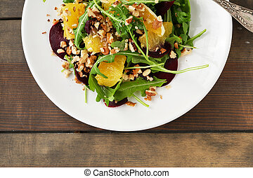 fresh salad with orange