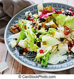 Fresh salad with pears