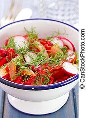 fresh salad with radish