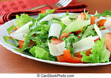 fresh salad with tomato
