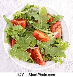 fresh salad with tomato