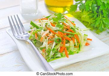 fresh salad with vegetable