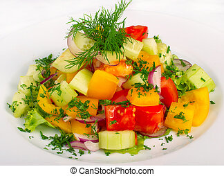 Fresh salad with vegetables