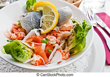 Fresh salmon salad