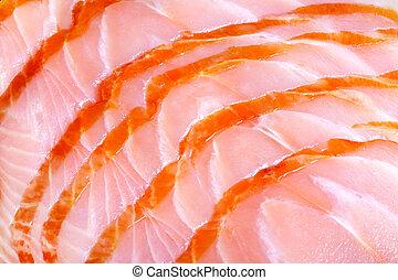 fresh salmon - Close up photo of fresh salmon