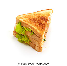 fresh sandwich isolated on  white