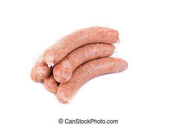 sausage on white background