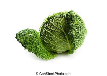 fresh savoy cabbage