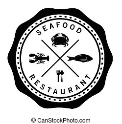 Fresh seafood Sea food badge