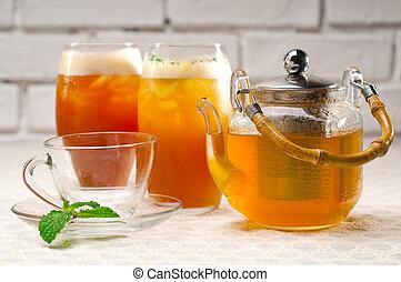 fresh selection of tea
