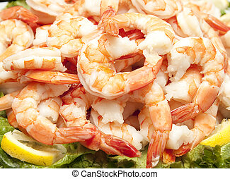 Fresh Shrimp and Lemons