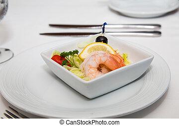 Fresh Shrimp Cocktail with Garnishes