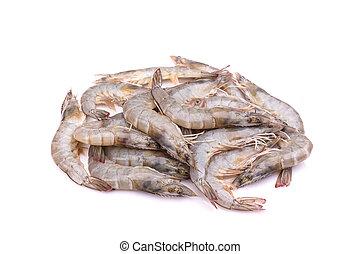 Fresh shrimp isolated on white background