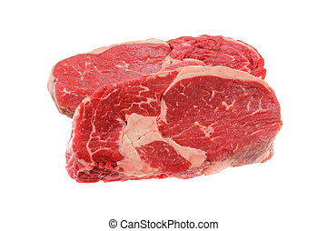 Fresh Sirloin steak - A cut of meat from the back : fresh...