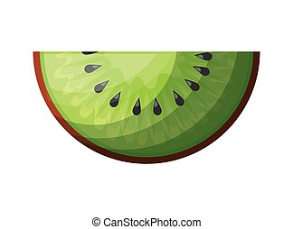 fresh slice kiwi fruit healthy