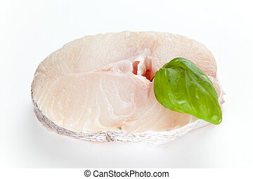 Fresh slice of hake
