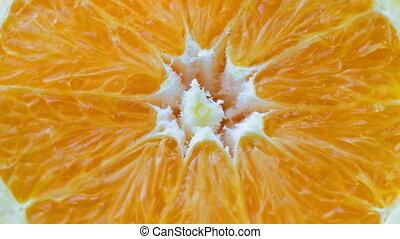 Fresh slice of orange