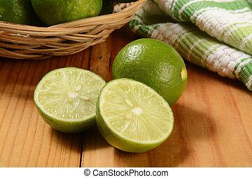 Fresh sliced key limes