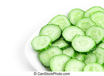 Fresh slices cucumber