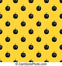 Fresh smiling apricot pattern vector