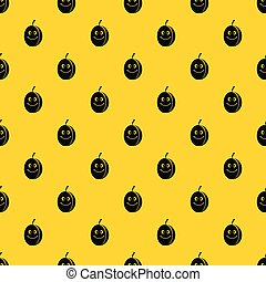Fresh smiling plum pattern vector