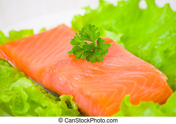 fresh smoked salmon fillet