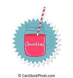 Fresh Smoothie. Healthy Food. Vector Illustration