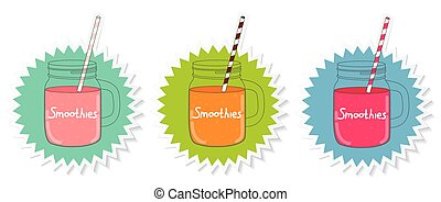 Fresh Smoothie. Healthy Food. Vector Illustration