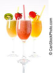 Fresh smoothies - Fresh fruit smoothies in the...