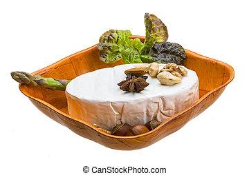 Fresh soft brie cheese
