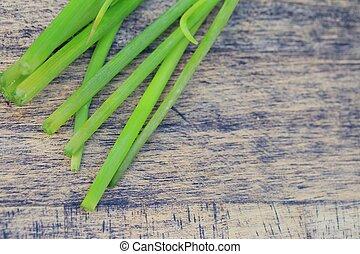 Fresh spring onions