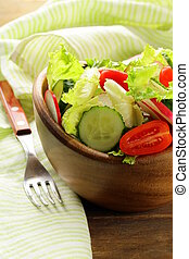 fresh spring salad with tomatoes