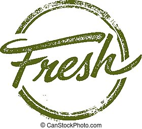 Fresh Stamp - Distressed Fresh rubber stamp image.