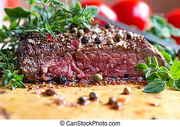 fresh steak