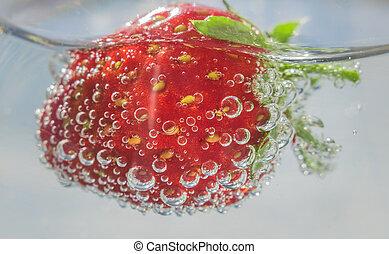 fresh strawberries close-up