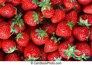 Fresh strawberry background - Fresh ripe perfect strawberry...