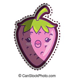 fresh strawberry cartoon character