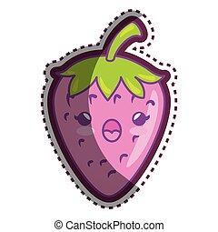 fresh strawberry cartoon character