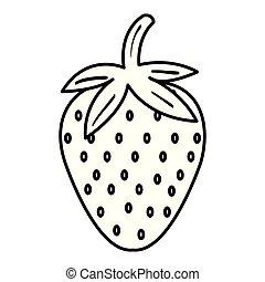 fresh strawberry fruit icon