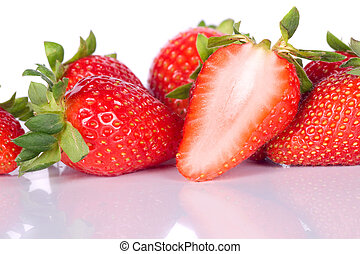 Fresh strawberry fruit