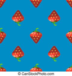 Fresh Strawberry Fruit Seamless Pattern